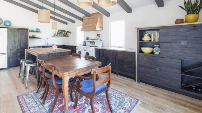 Reclaimed wood revamped this kitchen into