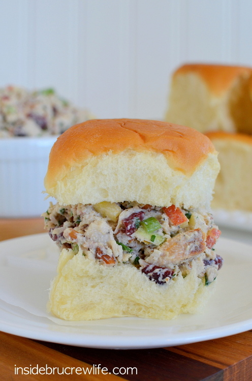 Apple cranberry turkey salad on rolls