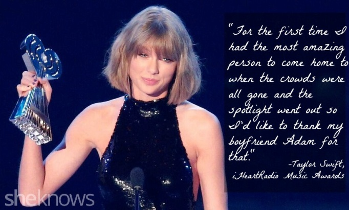 Taylor Swift iHeartMusic Awards quote