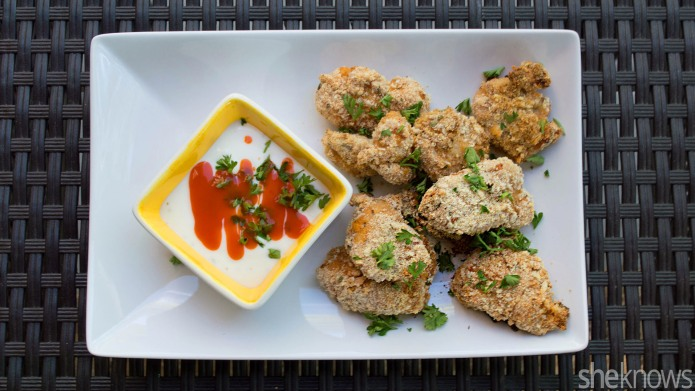 Crispy Buffalo ranch chicken nuggets are