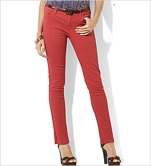 Lauren Jeans Co. Modern Straight Ankle Jeans