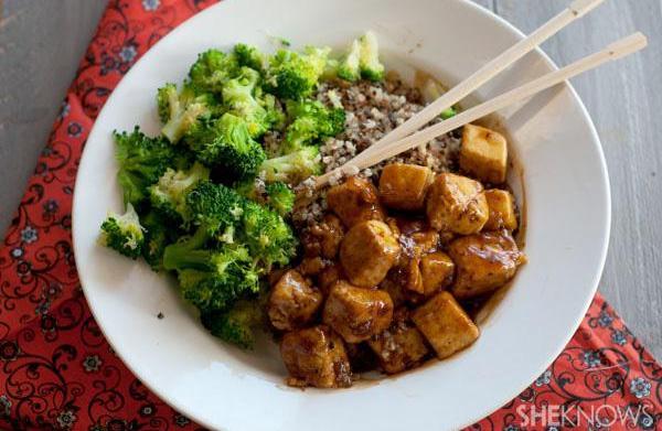 No chicken here: General Tso's tofu