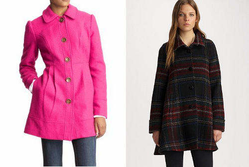 Flared coats