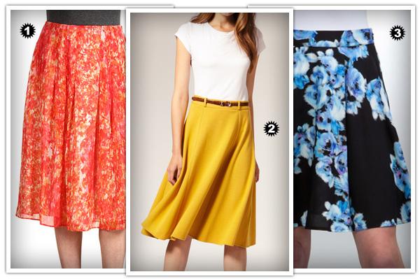 Wedge skirts