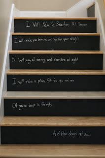 Chalkboard Stair Raisers
