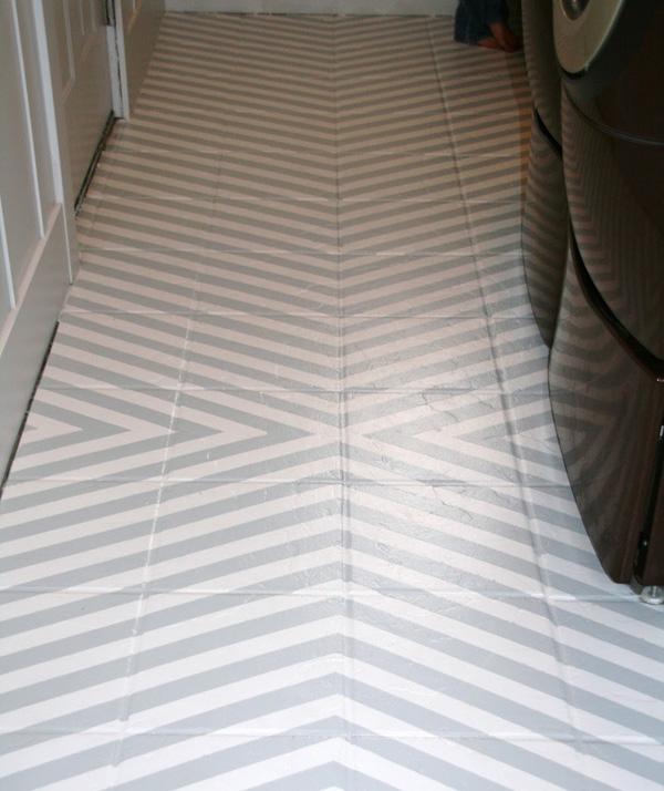 Chevron and white floor