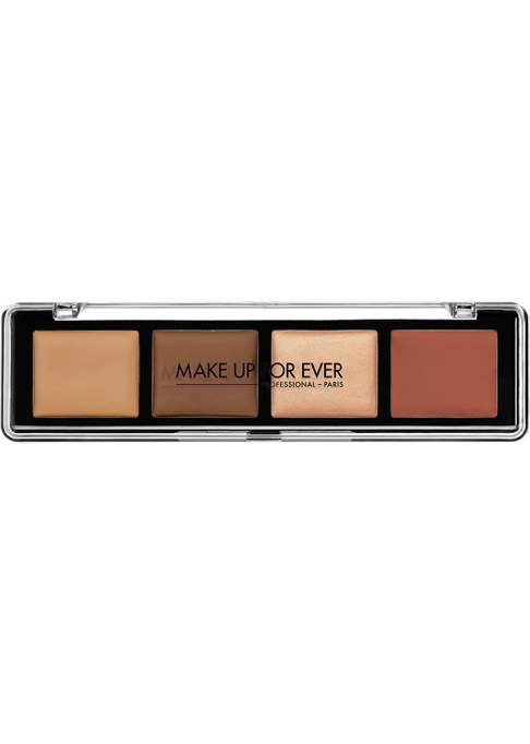 Contour Palettes For Almost Every Skin Tone: Make Up Forever Pro Sculpting Palette 4-in-1 Face Contouring Palette in Dark   Summer Makeup 2017