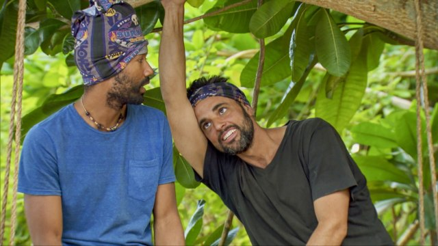 Wendell Holland with Domenick Abbate on Survivor: Ghost Island
