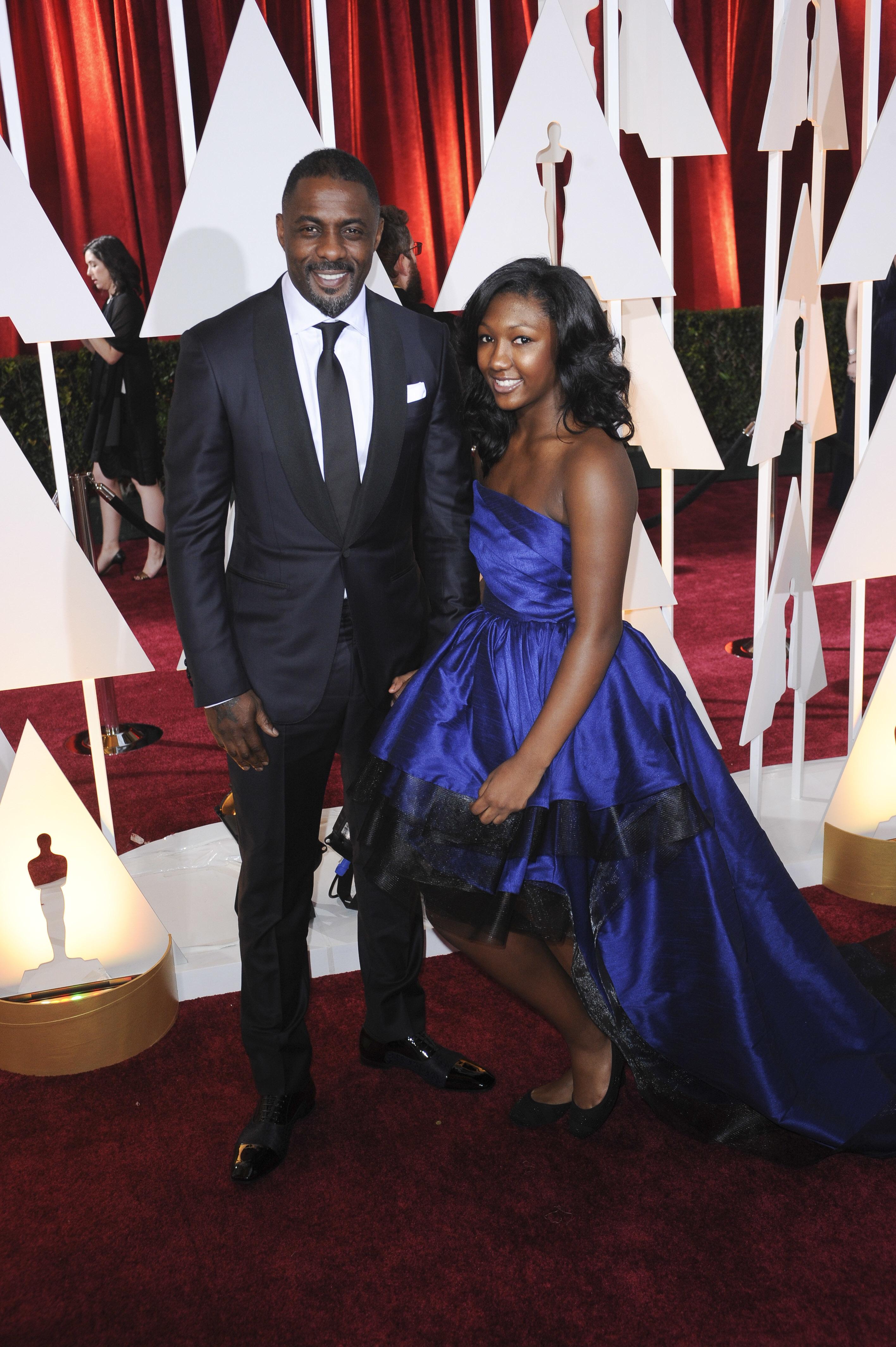 Idris and Isan Elba at Oscars Red Carpet
