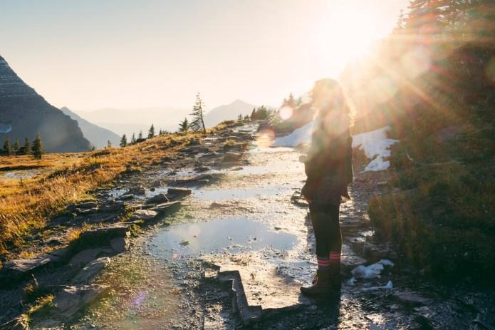 Millennial Woman on Scenic Hike in