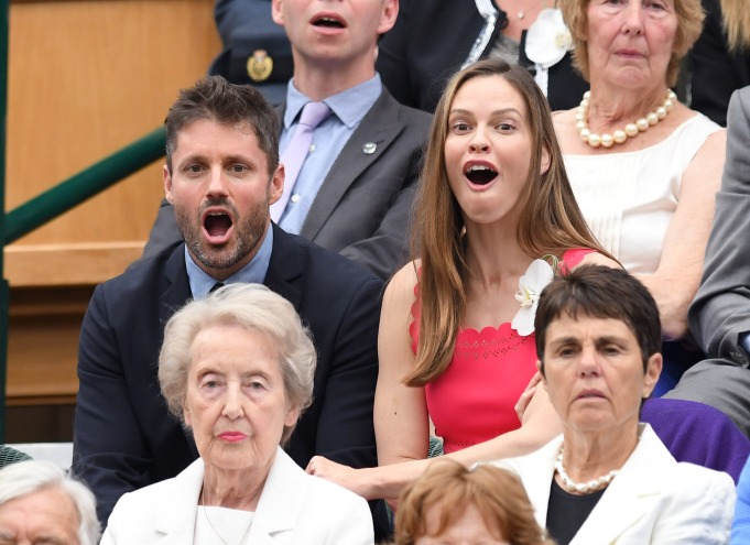 Check out these celebrities at the 2017 Wimbledon tournament: Hilary Swank