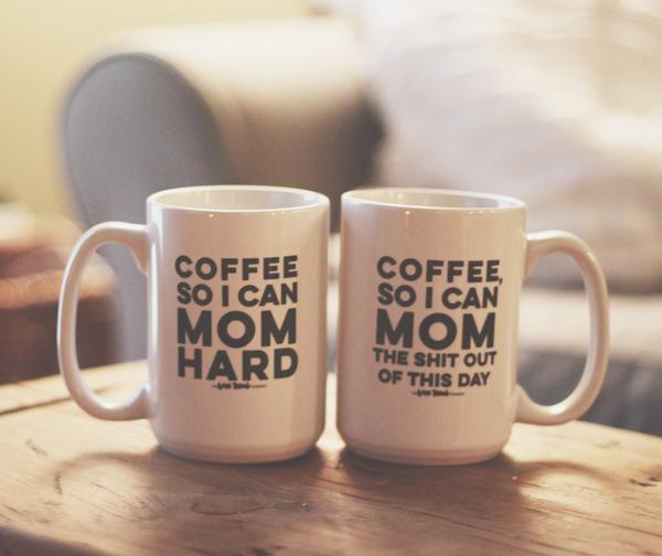 The Love Bomb Company mom coffee mugs