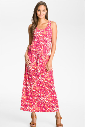MICHAEL Michael Kors print sleeveless maxi dress