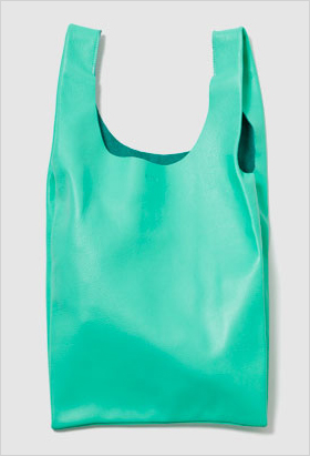 Ice pop colored leather tote