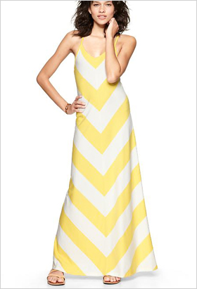 Chevron stripe maxi dress