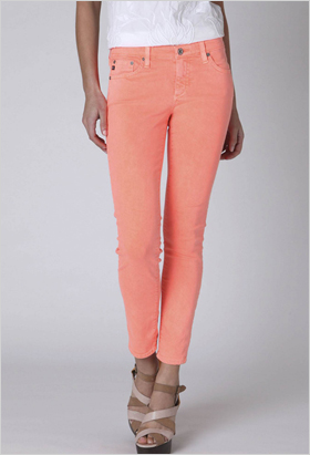 Neon cropped denim