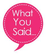 What you said