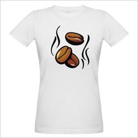 Café Press Coffee Beans T-shirt, cafepress.com, $27