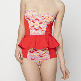 Anthropologie's Isometric Maillot