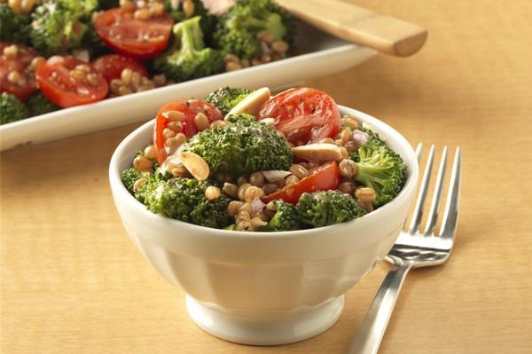 Wheatberry broccoli salad