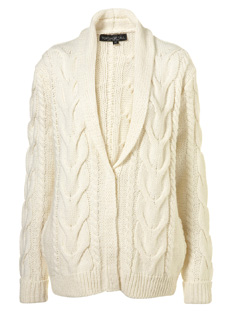 Our pick: Long shawl collar cable knit cardigan (Top Shop, $98).