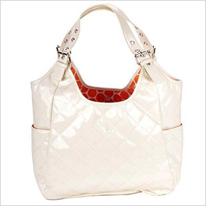 white diaper bag