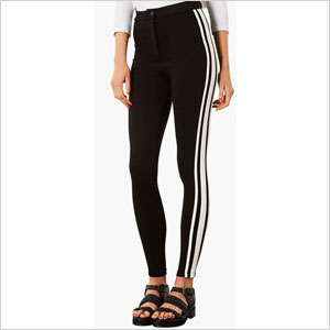 Sporty leggings with white strip