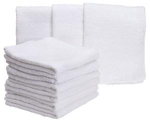 White washcloths