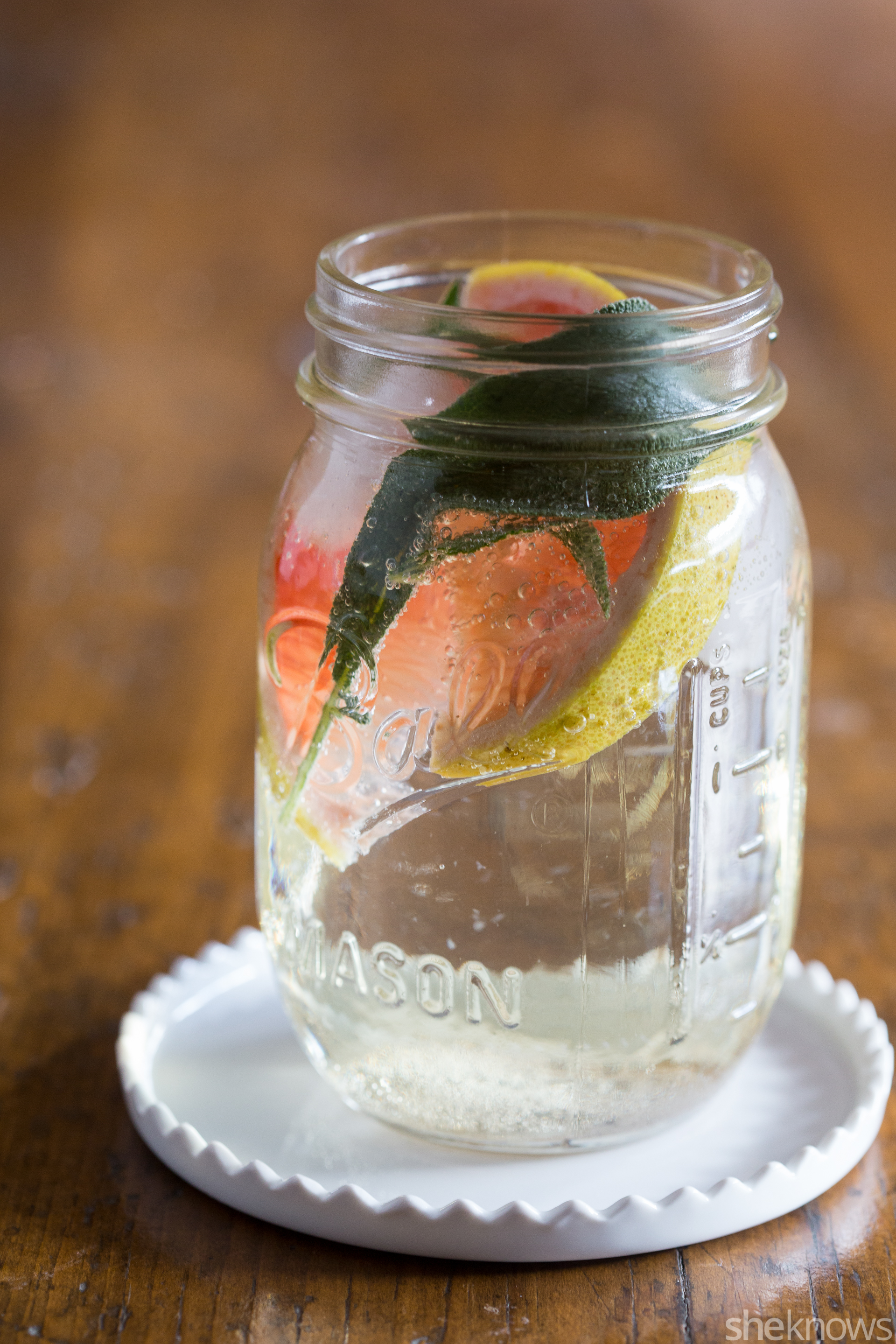grapefruit and sage white wine spritzer