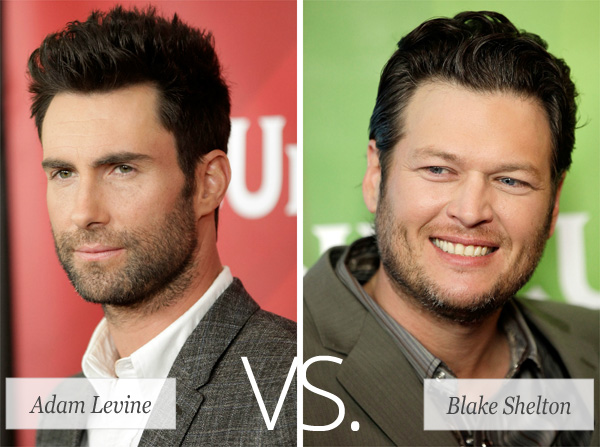 Who's hotter: Adam Levine or Blake Shelton?