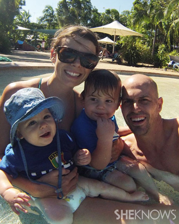 Kate Thompson and family
