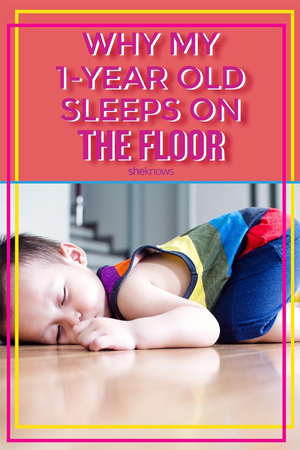 baby sleeping on floor