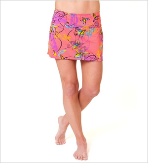 Running skirt with built-in-briefs