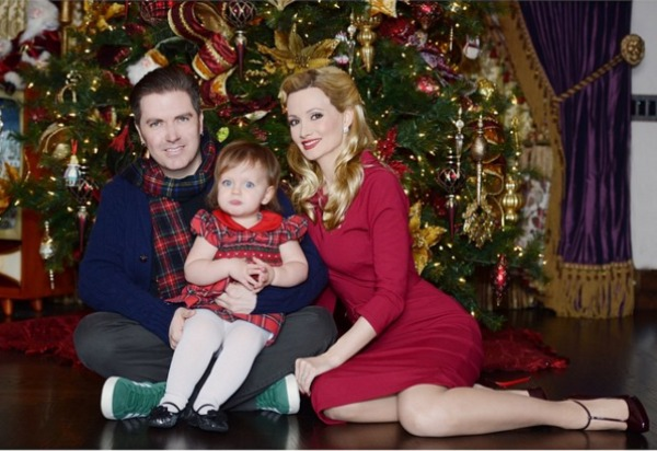 Holly Madison's Christmas card