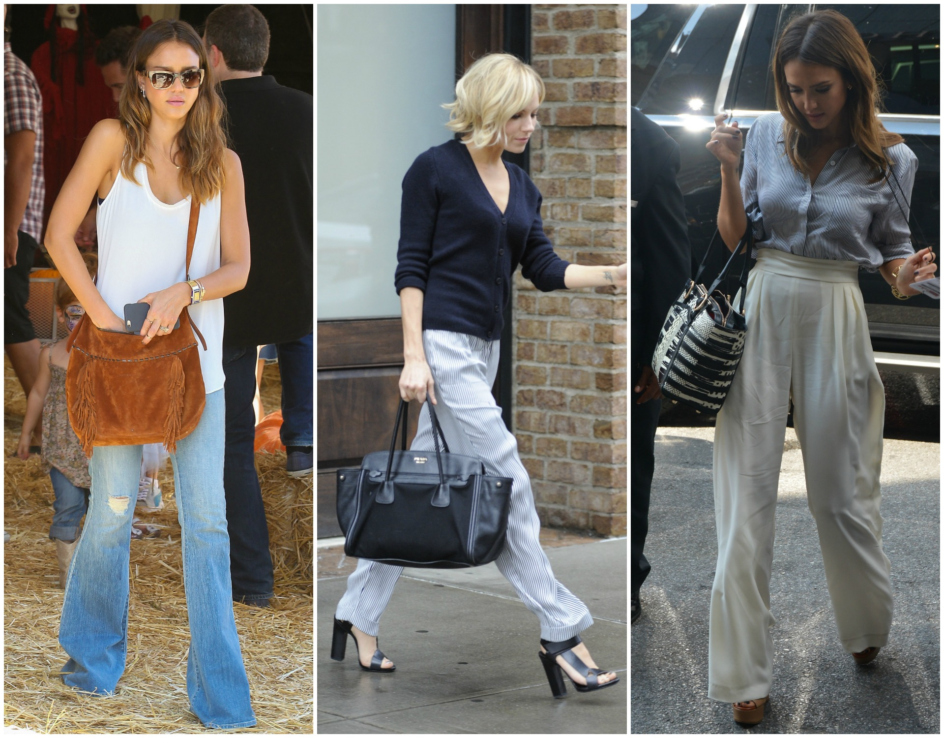 How to wear wide-legged trousers