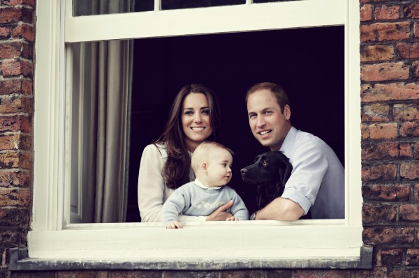 Kate Middleton Prince William Prince George Lupo