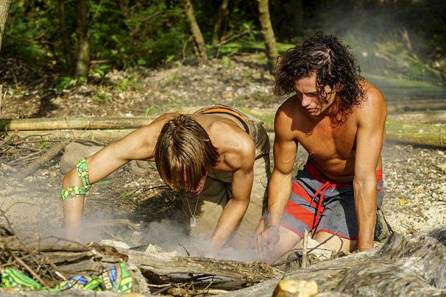 Will Wahl and Jay Starrett work at camp on Survivor: Millennials Vs. Gen-X