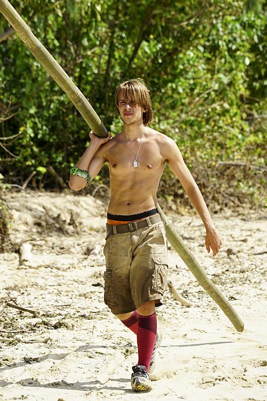 Will Wahl works at camp on Survivor: Millennials Vs. Gen-X