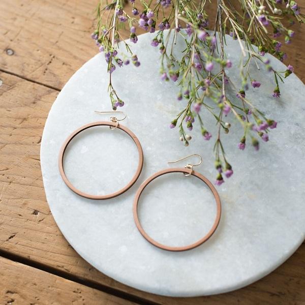 Gifts for HGTV Lovers: Wooden Loop Earrings