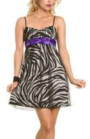 Zebra Cocktail Dress