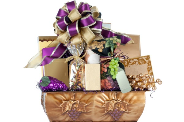 wine themed gift basket