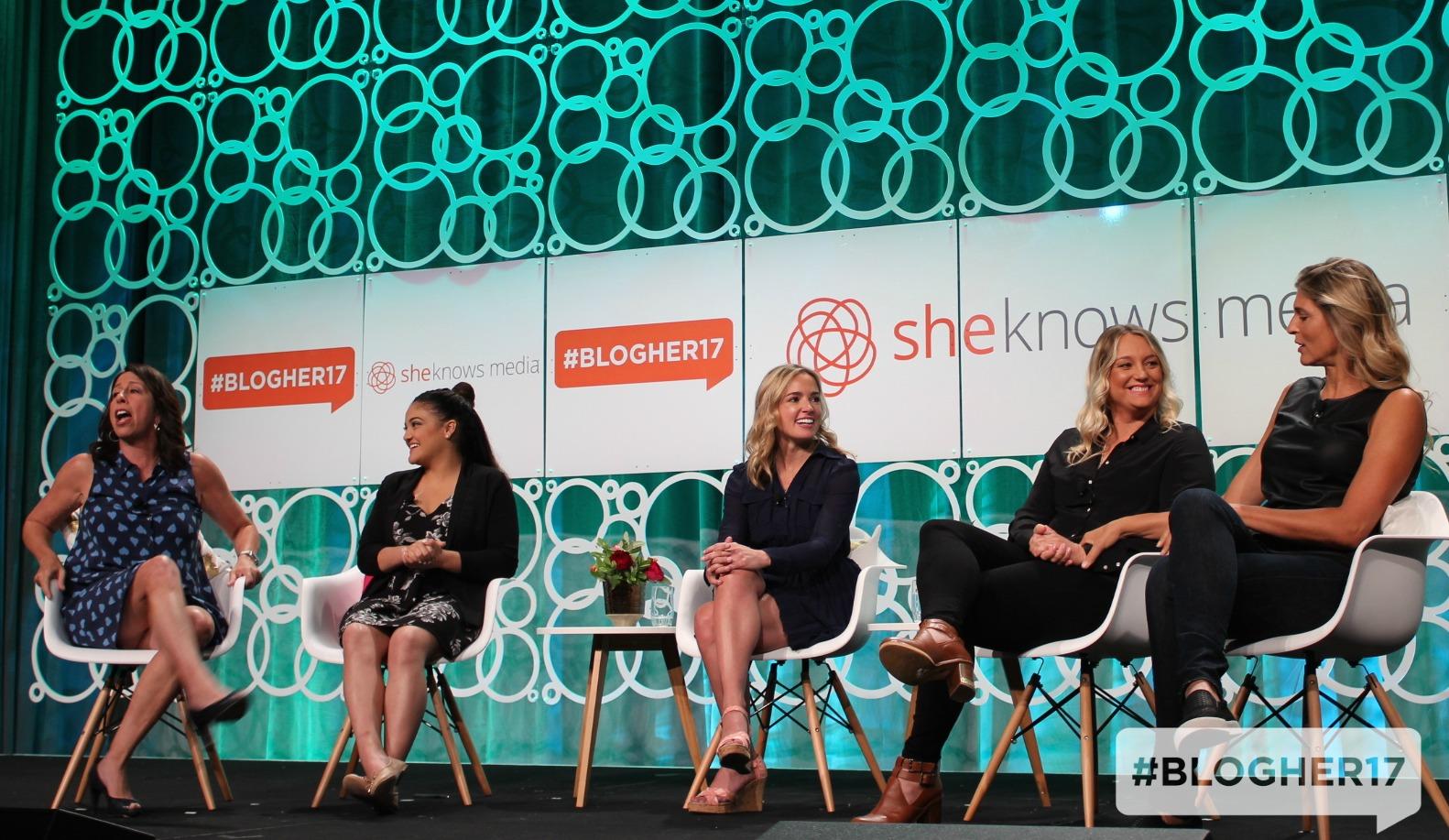 #WinningWomen panel at BlogHer17