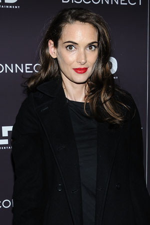 Winona Ryder at film premiere