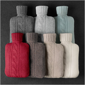 cashmere cover for water bottle