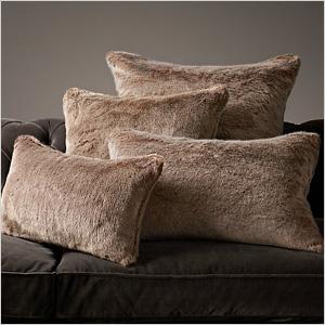 Mohair/Faux fur pillow
