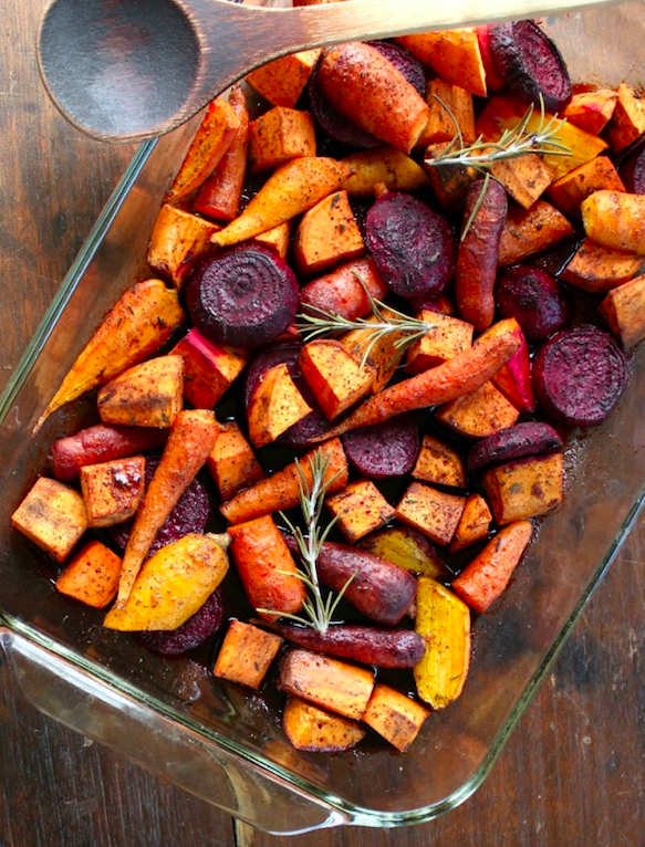 Healthy dish: roasted root veggies