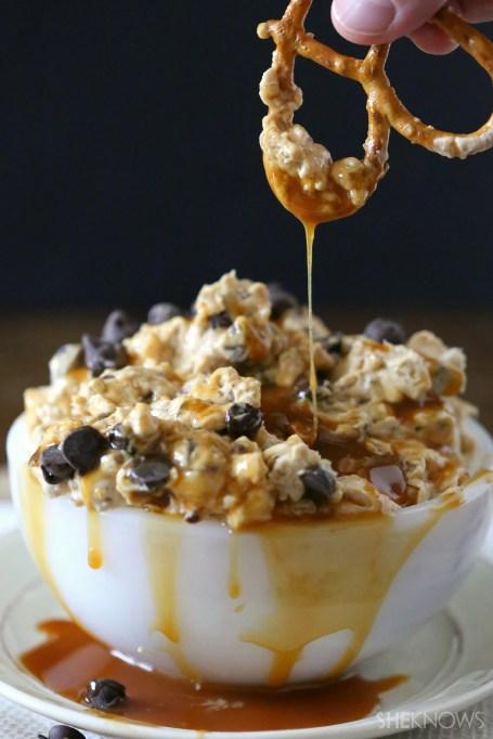 Best Super Bowl Snacks: Turtle Cheesecake Dip