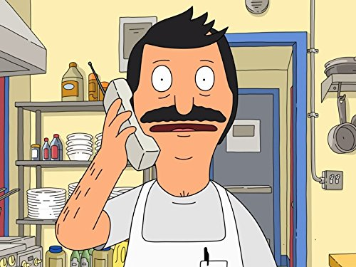 Still of the animated character Bob Belcher from 'Bob's Burgers'