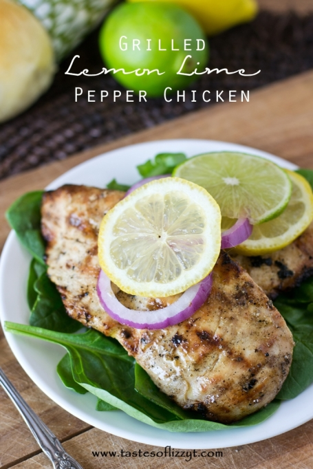 Grilled gluten free lemon lime pepper chicken
