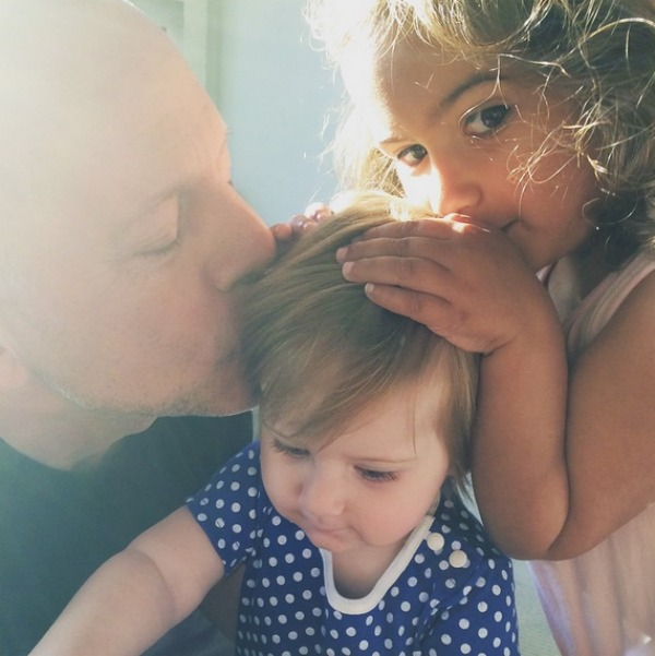 Bruce Willis with daughters Evelyn and Mabel